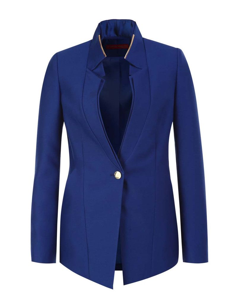 The Double Collar Buttoned Blazer by Designed by Jaewoo Kim