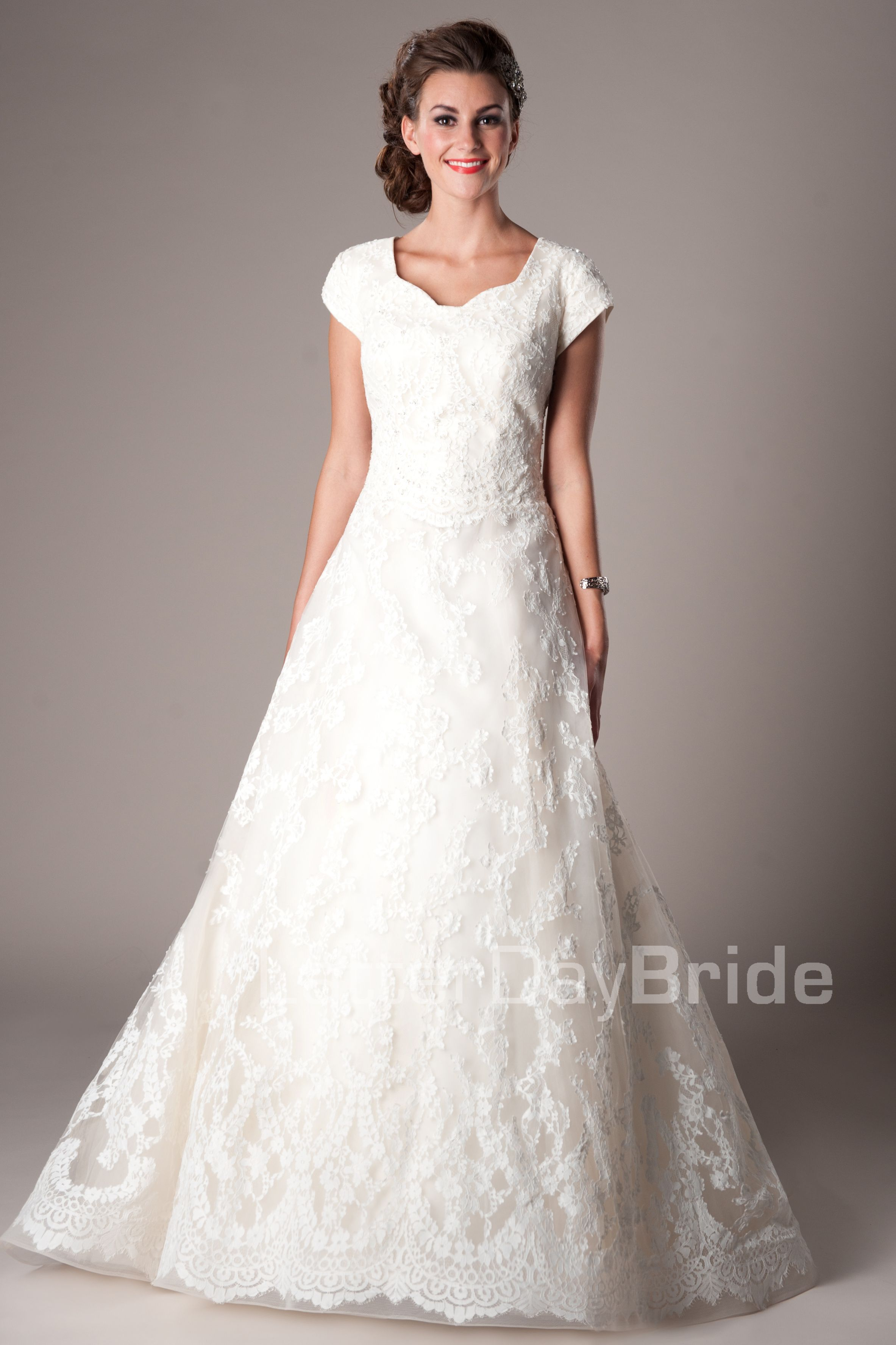 Modest wedding dresses mormon lds temple marriage for Lds wedding dresses utah