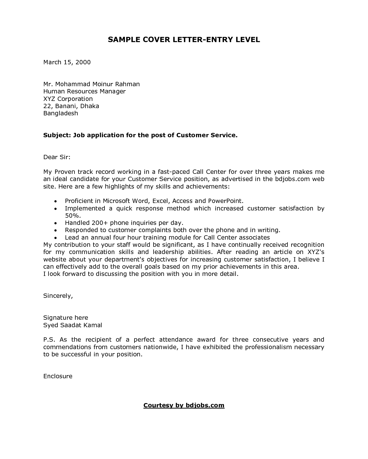 Resume Example, Example Of A Cover Letter Email Nursing Job ...