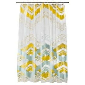 Shower curtain from Target, to match new bedding.