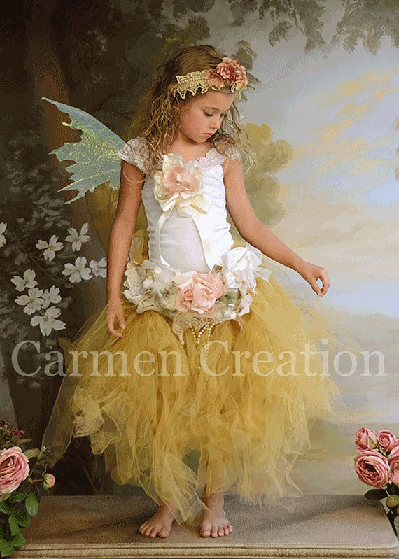 Whimsical Fairy Tutu Set (Sage) | Flower headbands, Flower and Girls