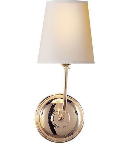 Visual Comfort Tob2007pn Np Thomas O Brien Vendome 1 Light 6 Inch Polished Nickel Decorative