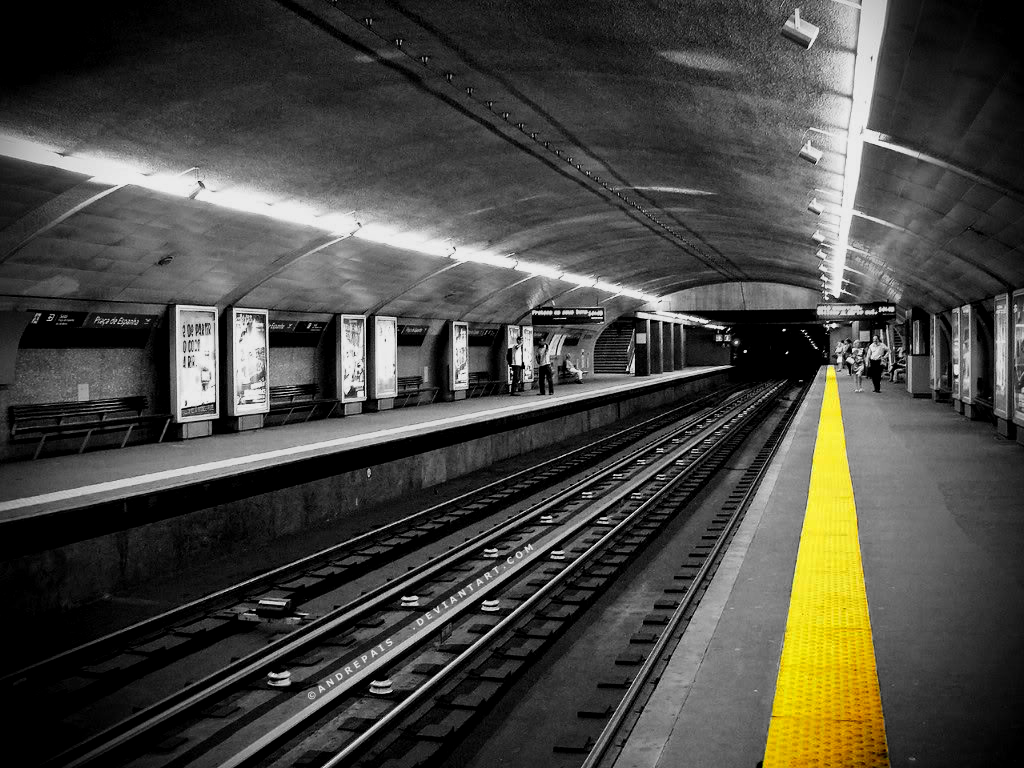 Train station coloring - Urban Subway Train Stations Monochrome Selective Coloring 1024x768 Wallpaper