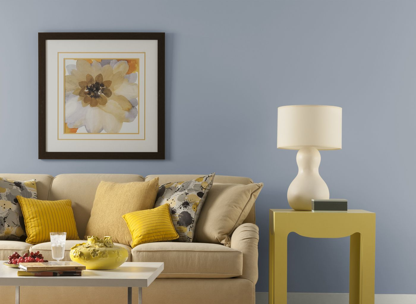 Blue Gray Living Room Living Room Paint Room Paint