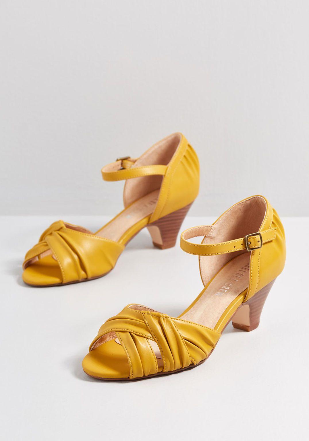 46316d91860 Makin' Moves Mid-Height Heel in 2019   Fashion   Mustard yellow ...