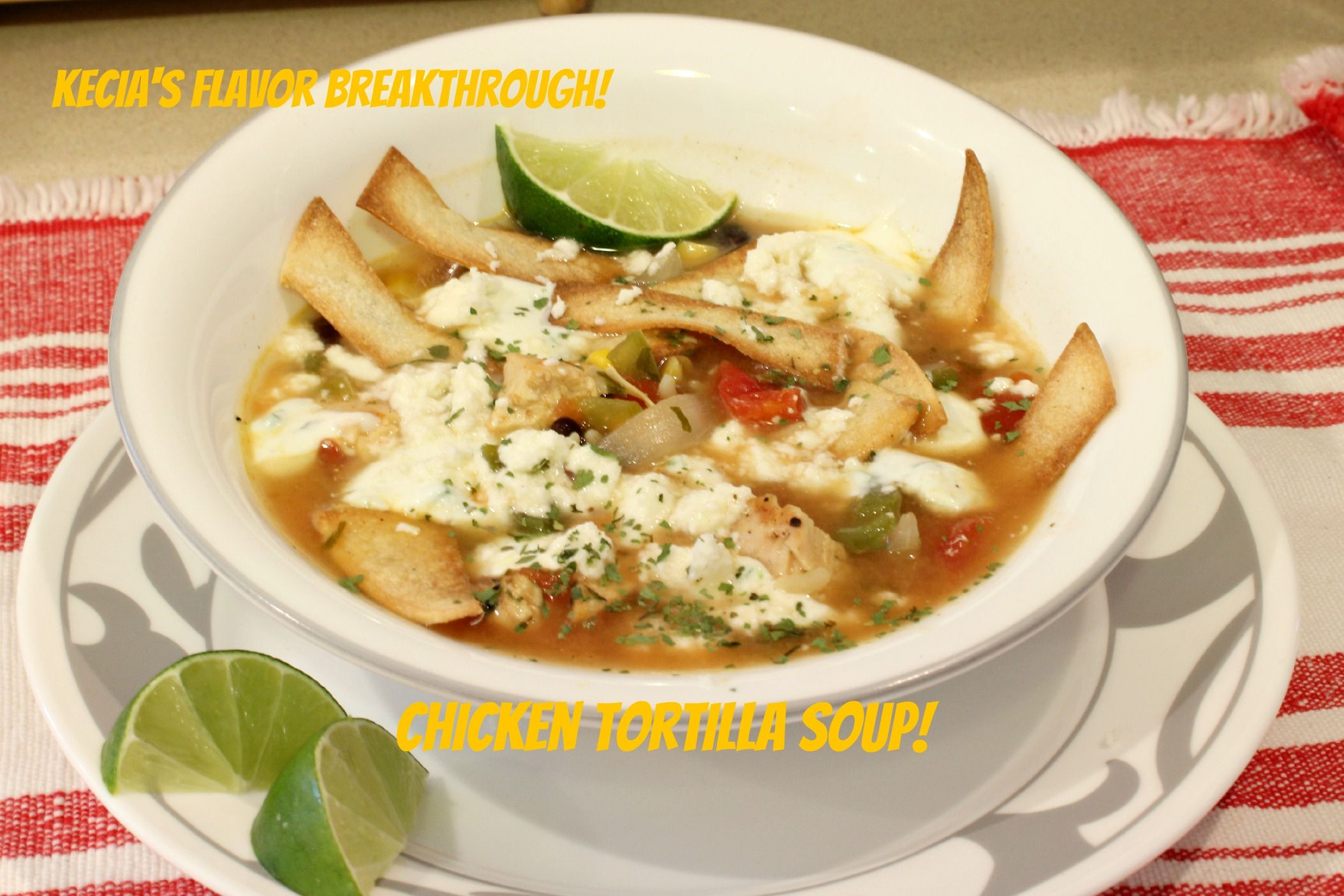 Grilled Chicken Tortilla Soup! By: Kecia's Flavor Breakthrough! I am totally craving soup!So, what else is new, right?I have some chicken thawing in the refrigerator, the weather is much cooler, I have jalapenos and bell peppers sitting on the counter! Sounds like a great idea for some delicious, southwestern type soup! And I am missing…