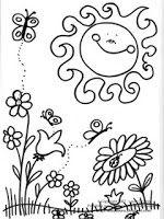 Fichas De Inglés Para Niños Dibujos De La Primavera Para Colorear