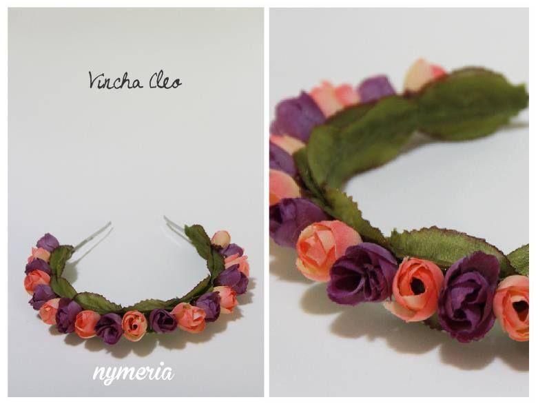 Catálogo de accesorios de la marca Nymeria - Vinchas de flores - Vinchas con Flores - Flower Crown - Flower Headband Vincha Cleo