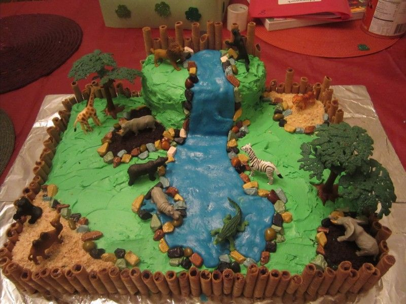 Terrific Birthday Zoo Cake Click Photo For Silly Non Tutorial With Funny Birthday Cards Online Amentibdeldamsfinfo