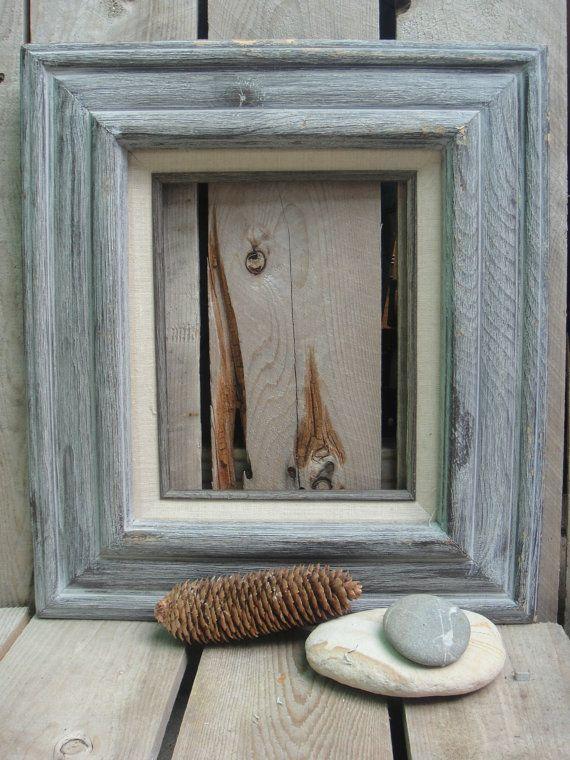 Vintage Wooden Frame - Shabby - Distressed - Light Blue - Open Frame ...