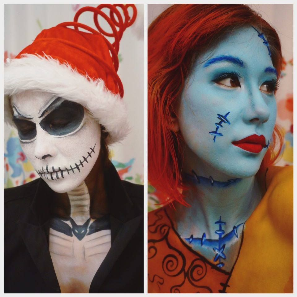 Nightmare Before Christmas, Jack and Sally Halloween makeup ...