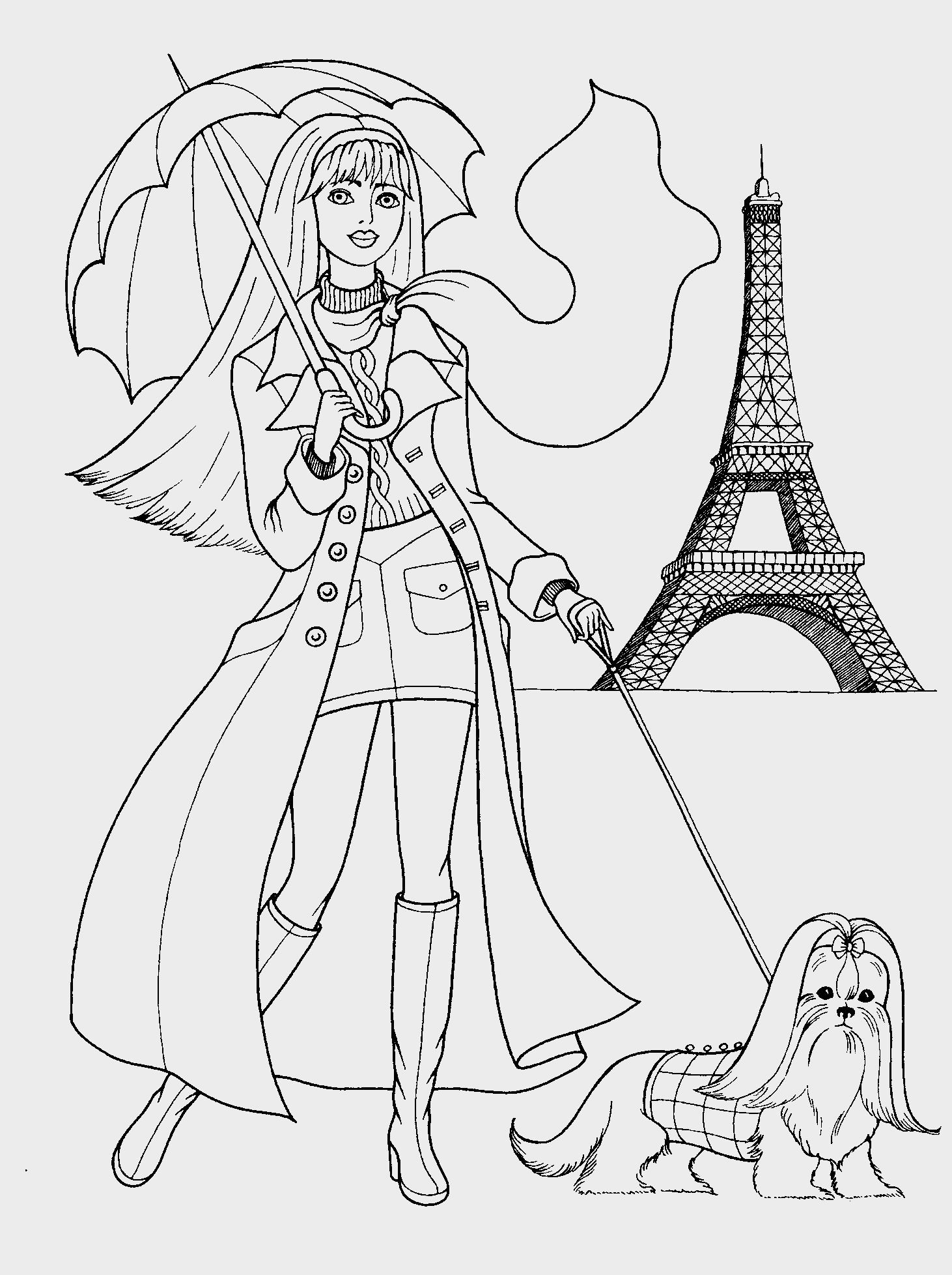 Coloring Page For Girls | Coloring Pages | Pinterest