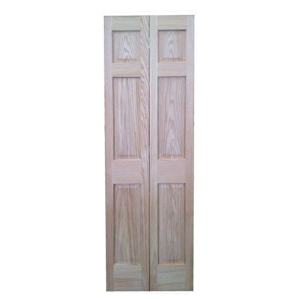 Pacific Mills 30 In. X 80 In. 6 Panel Solid Core Oak Interior