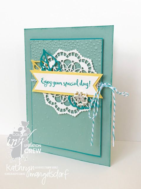 Stampin' Up! Colour INKspiration, Lace Doilies created by Kathryn Mangelsdorf