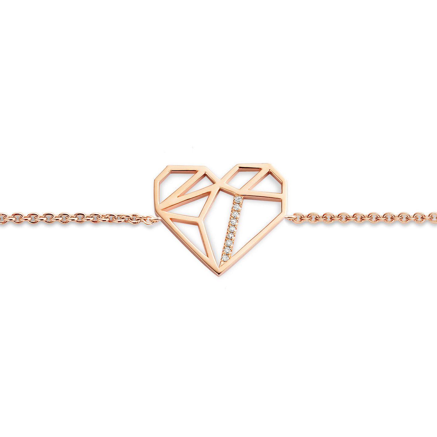 Geometrics Bracelet - rose - Armband op ketting - Juwelen - Diamanti Per Tutti