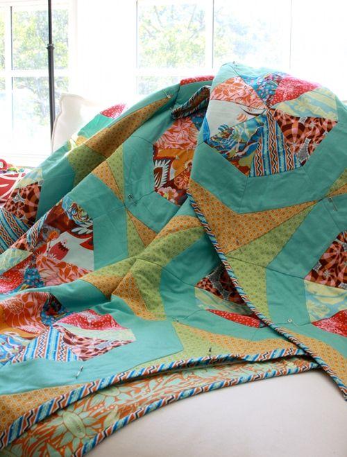 Spinning Stars Quilt--free Anna Maria Horner pattern. | Quilts ...