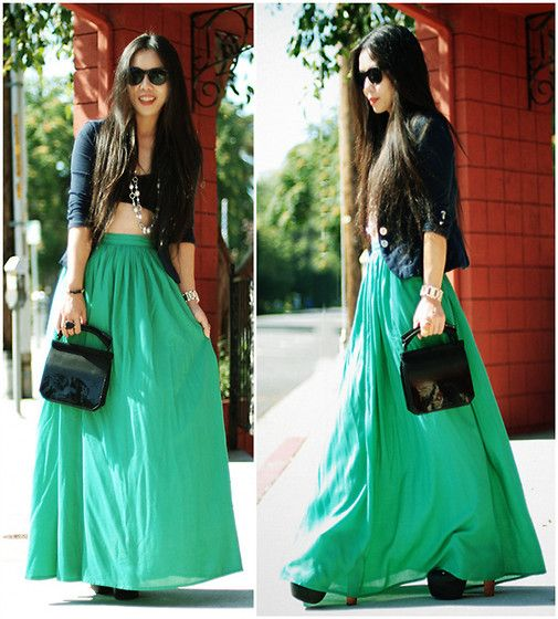 Zara Short Blazer, Zara Maxi Skirt, Alexander Wang Clutch, Jeffrey ...