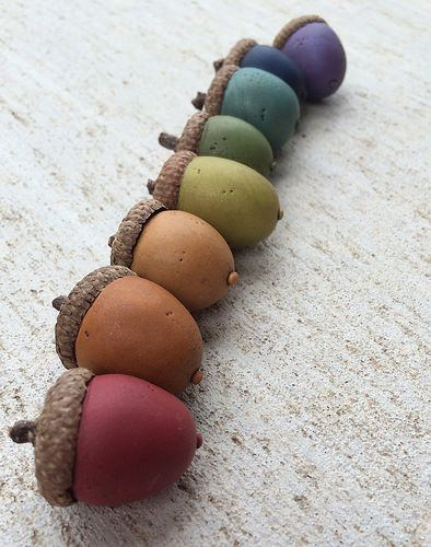 First Attempt At Polymer Acorns With Images Polymer Clay
