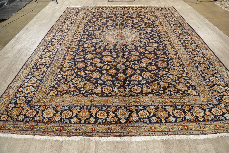 Vintage Floral Navy Blue Kashan Persian Area Rug 9x12 Persian Area Rugs 9x12 Area Rugs Cool Rugs
