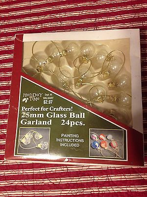 24 Mini Glass Christmas Ball Ornaments Garland Paintable Crafts Decor 25mm https://t.co/zn4eG33WFZ https://t.co/AuO7oPEEZ8