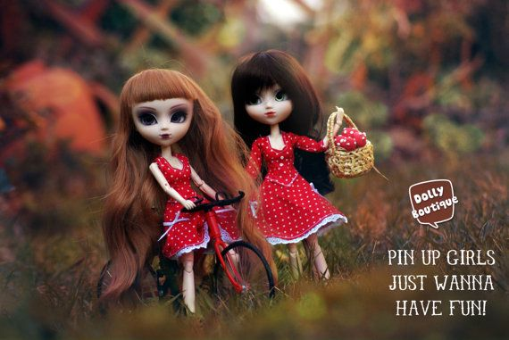 Pullip Pin Up Dresses 3/4 Sleeves