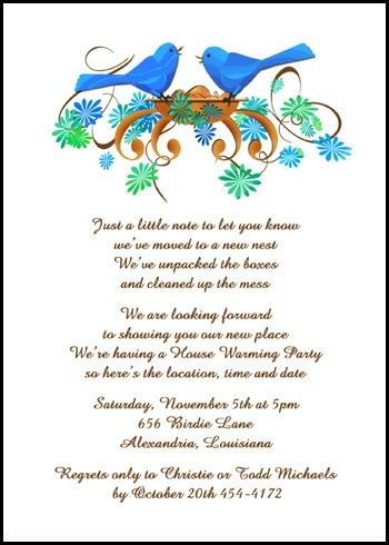 Find Creative Housewarming Party Invitations Wording Samples