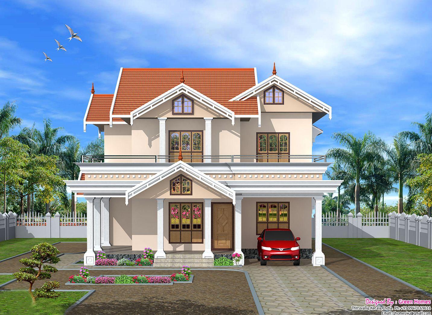 Very Cute 2750 Sq Ft Kerala Home Design House Plans House