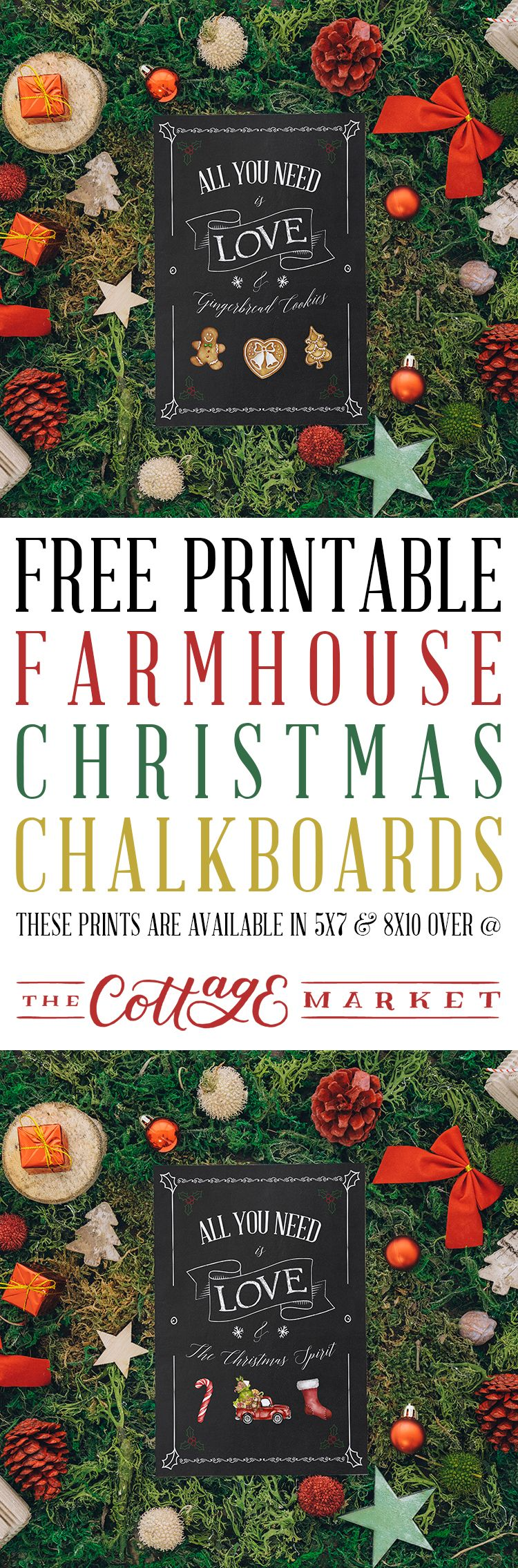 Free printable farmhouse christmas chalkboards christmas decorative paper crafts free printable farmhouse christmas chalkboards jeuxipadfo Images