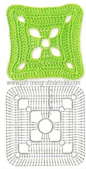 Colección de los mejores grannys crochet / Descarga Gratis   Crochet ...