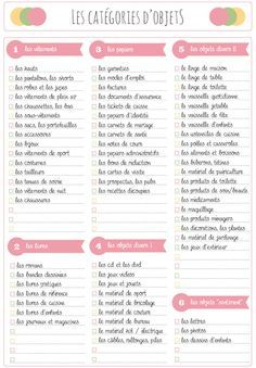 Dossier d sencombrer par cat gorie d 39 objets for Aide organisation maison