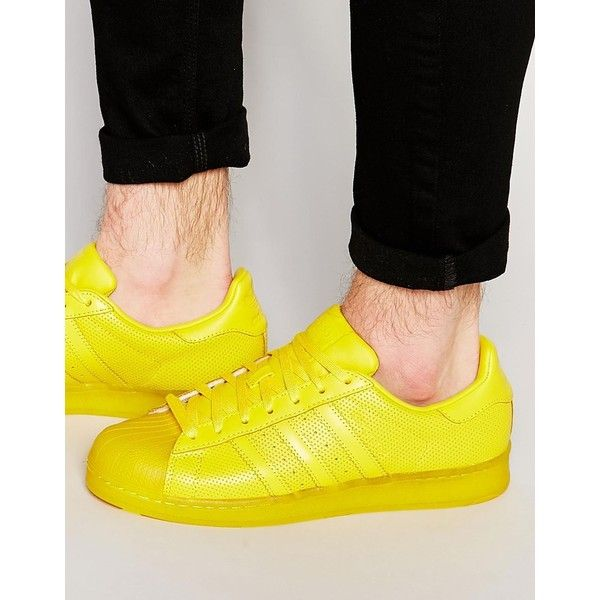 adidas Originals Superstar  Yellow Mens Sneakers Leather