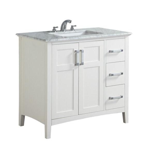 Wyndenhall Salem 36 Inch Contemporary Bath Vanity In Soft White
