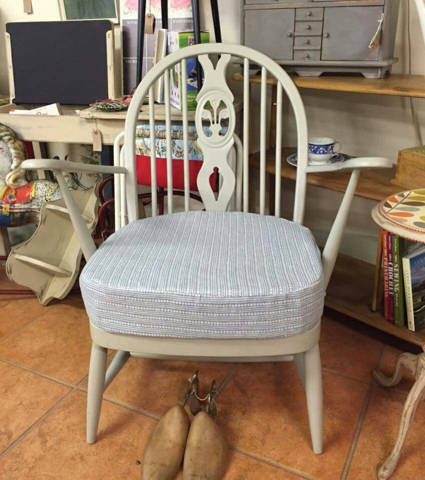 "vintage chairs painted in ""old lace"" vintro chalk paint® and"