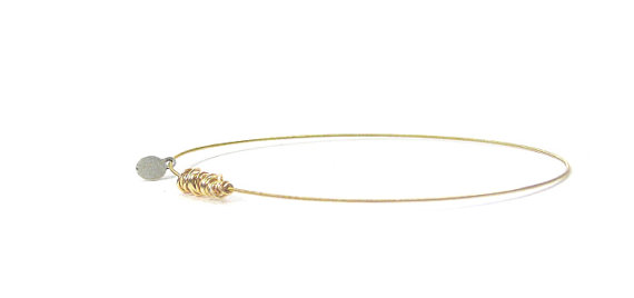 Guitar String Jewelry Thin Gold Charm Bracelet Bangle