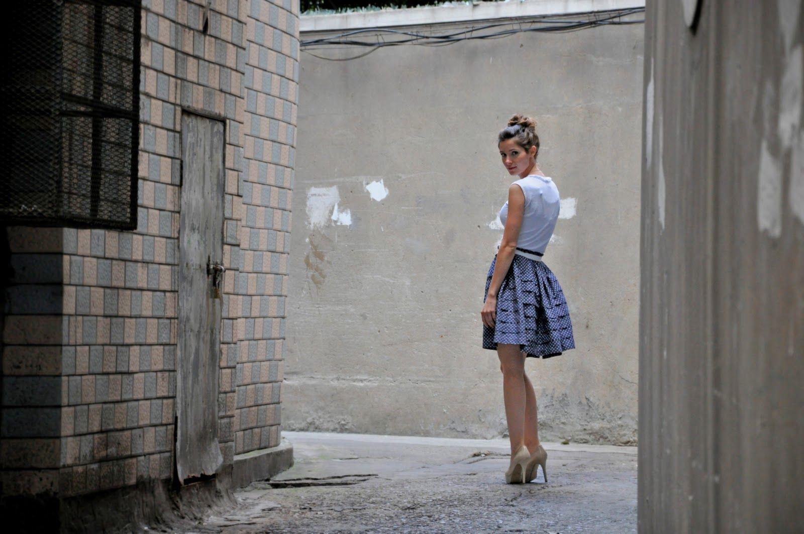 C: Polka Dot Pintuck Skirt Tutuorial