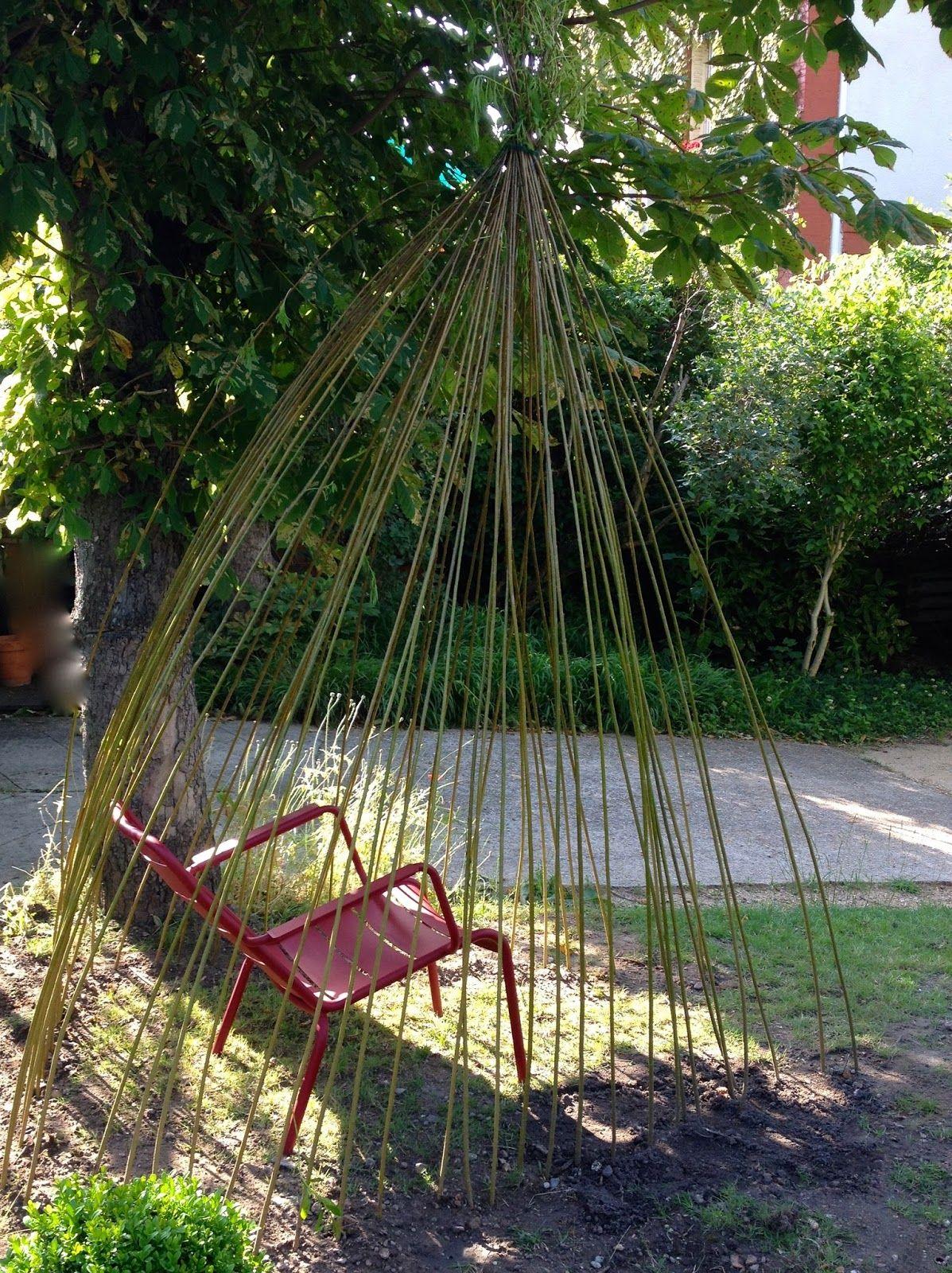 from soph to you diy cabane plant e en osier jardin garden outdoor gardens et diy. Black Bedroom Furniture Sets. Home Design Ideas