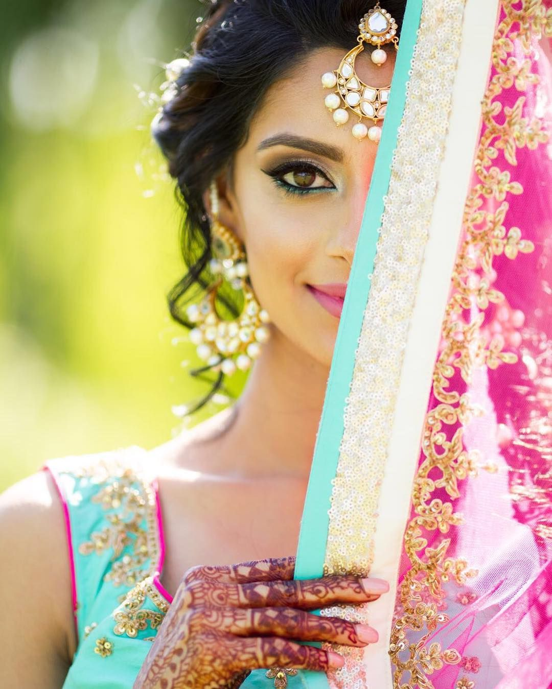Hindu Bridal Hairstyles 14 Safe Hairdos For The Modern: Pin By Prabh Bajwa On Indian Weddings