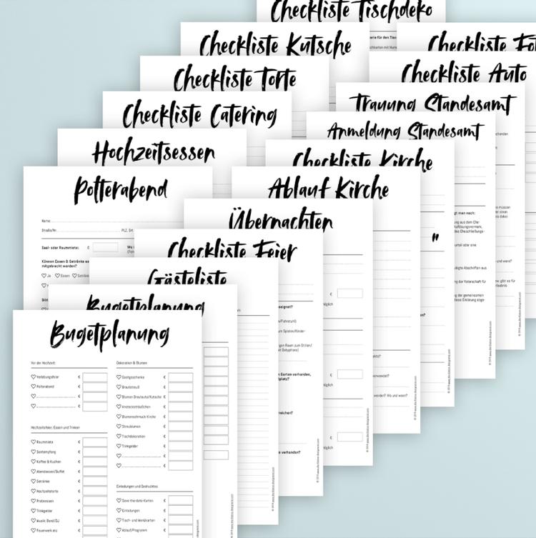 Wedding Planner Kalligrafie Checkliste Hochzeit Hochzeitsplaner Buch Hochzeit Broschure