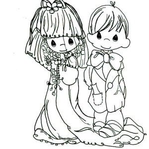 precious moments wedding coloring pages children coloring