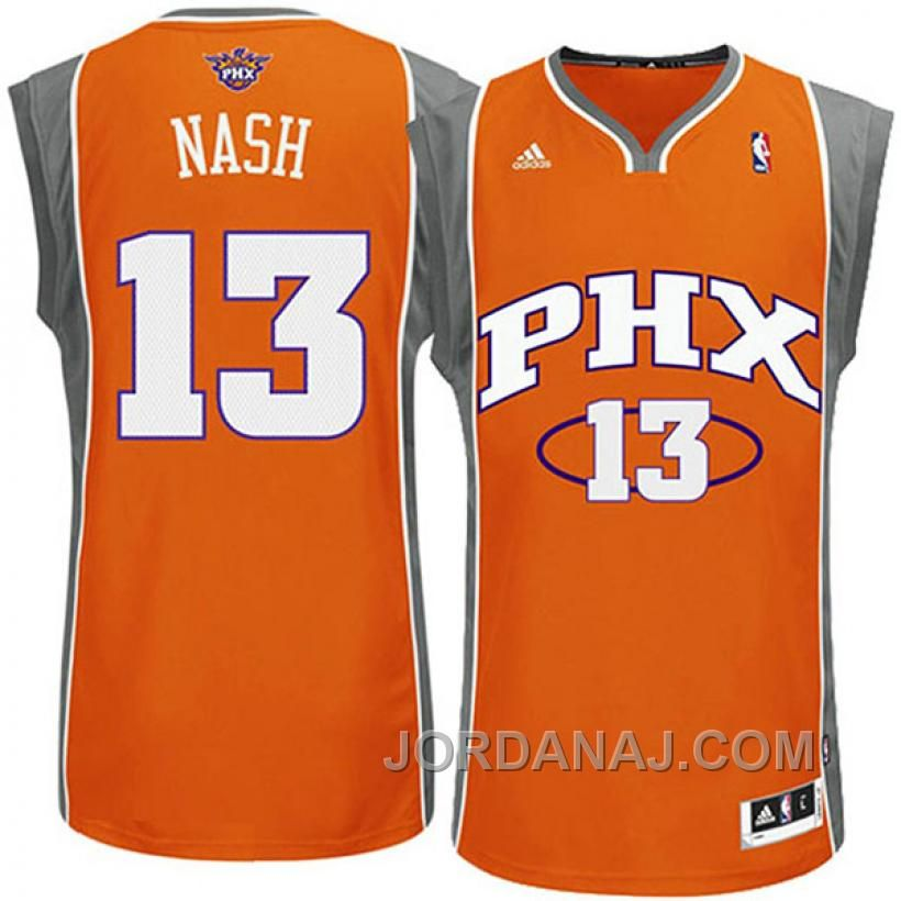 premium selection ff268 d37fe phoenix suns 13 steve nash revolution 30 swingman orange jersey