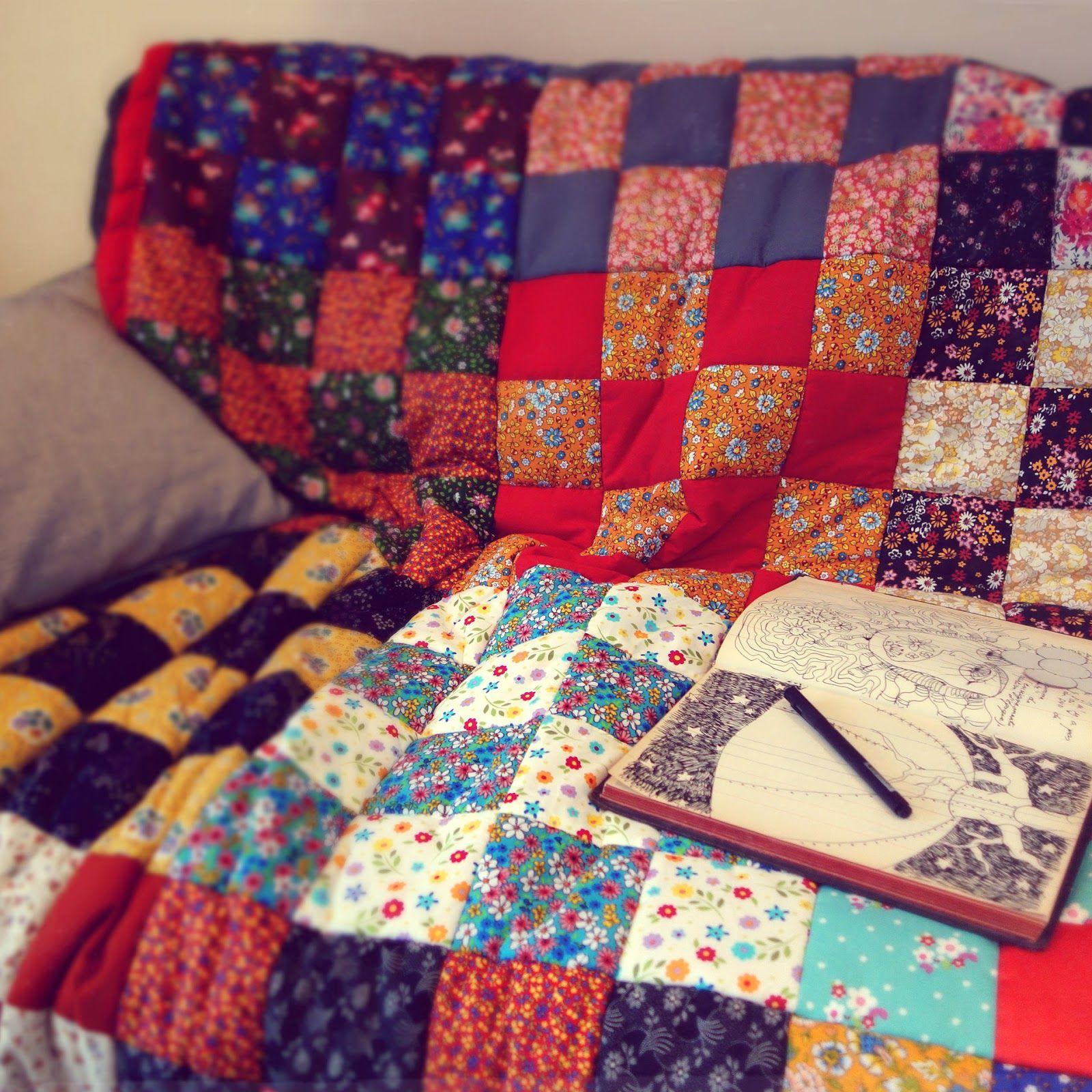 Couverture en patchwork | Madame Capucine | Couverture patchwork, Couverture, Patchwork