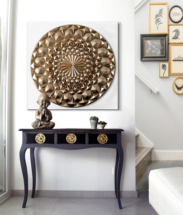 Cuadros mandalas dorados decoracion pinterest for Cuadros originales salon