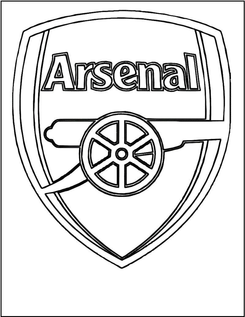 Arsenal Soccer Club Logo Coloring Black And White Picture Arsenal Halaman Mewarnai Arsenal Football