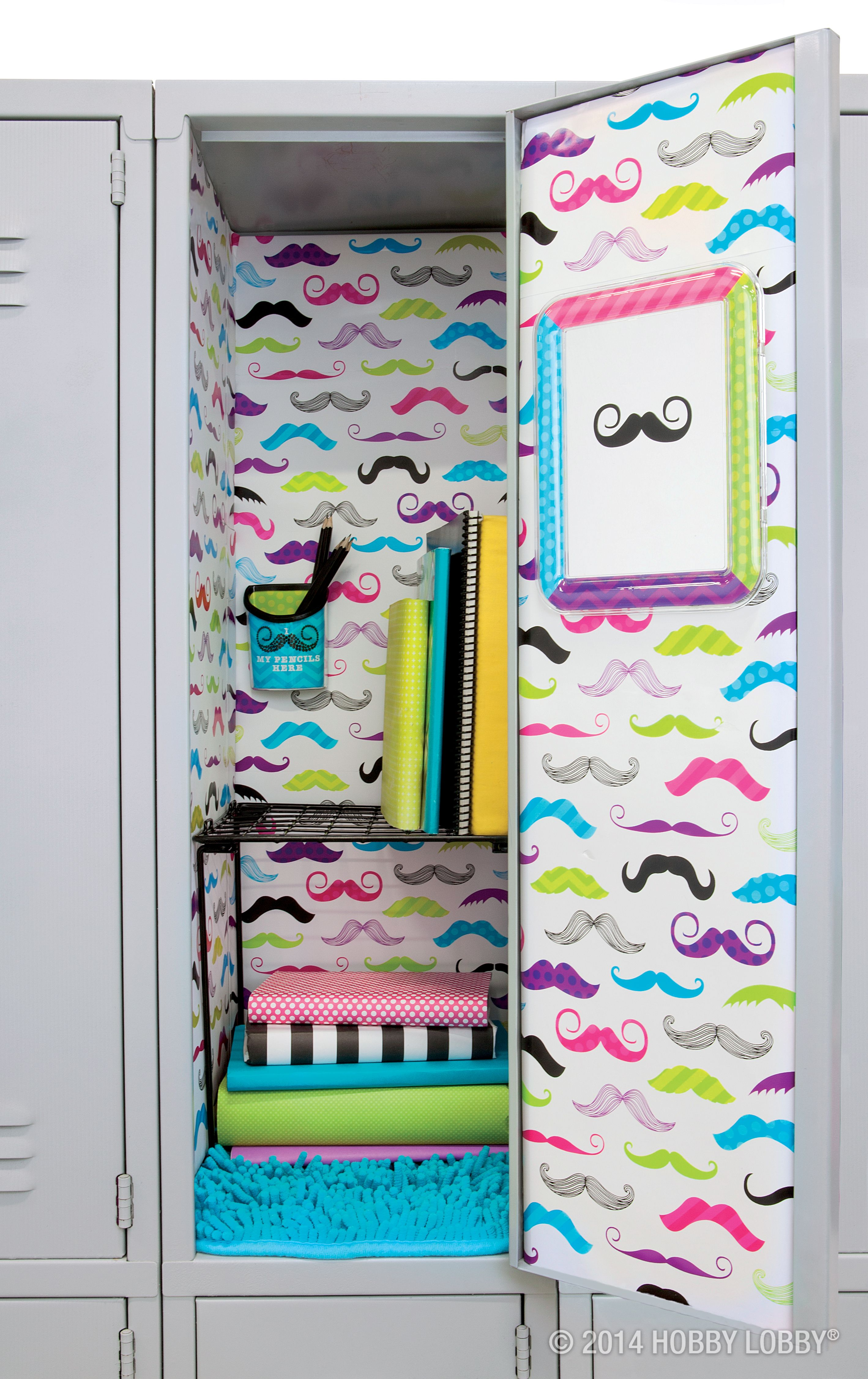 We Mustache You Are You Ready To Jazz Up Your Locker And Have A Great School Year So Are We School Lockers Diy Locker School Locker Organization