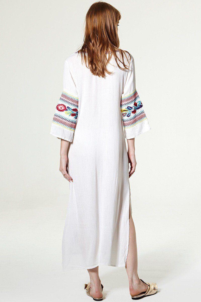 Penelope longsleeve embroidered maxi dress clothing pinterest