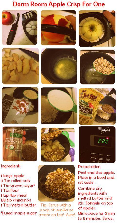 Recipe Dorm Room Apple Crisp For One Barracks Living Recipes