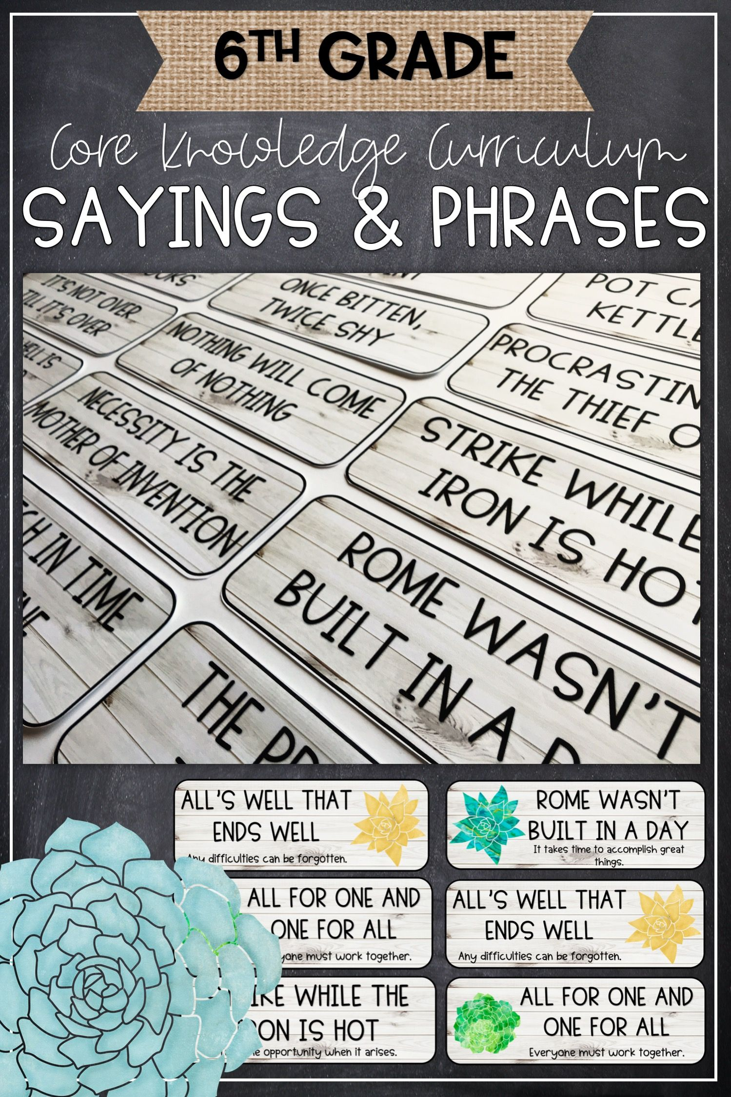 Idioms Adages Amp Proverb Farmhouse Posters