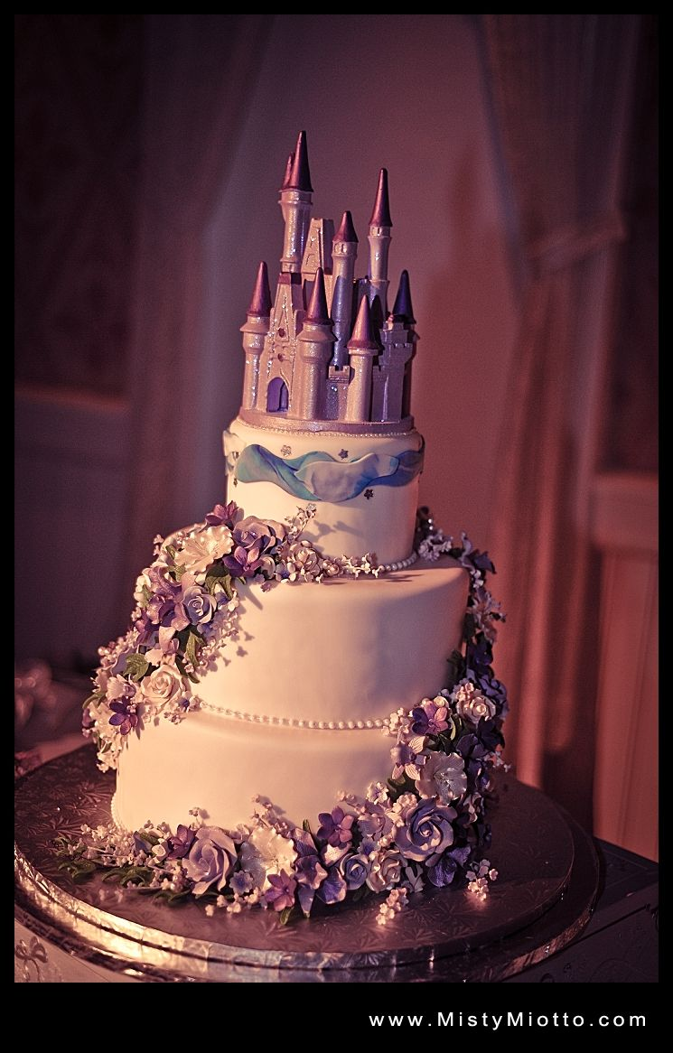 Walt Disney World Wedding Cake With Castle In Lavender I