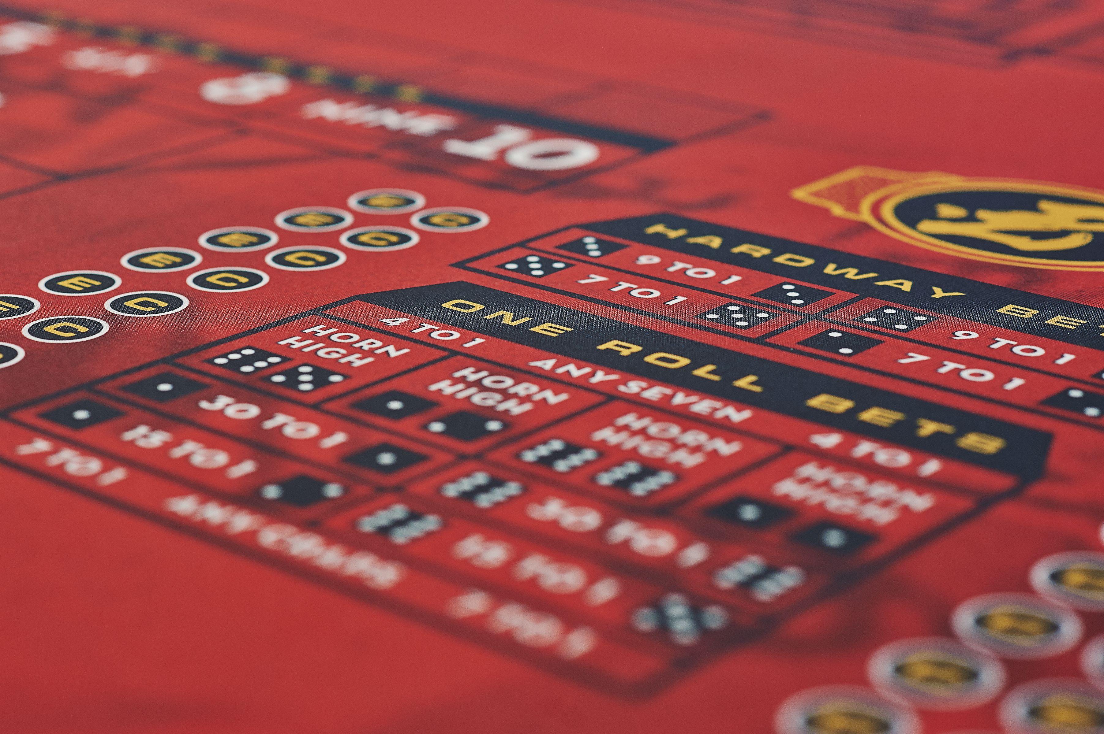 CUSTOM FELT FOR CASINO DICE TABLE Casino graphics