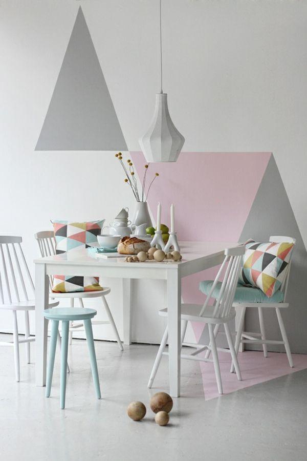 Esszimmertisch Mit Stühlen Skandinavisches Design Geometrische Muster